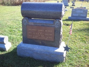Headstone of Delano James Morey, Medal of Honor winner