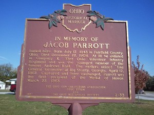 Jacob Parrott Historical Marker